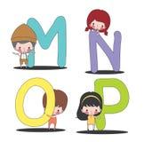 孩子和MNOP集合 库存照片