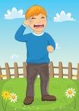 孩子哭泣的传染媒介例证 库存照片