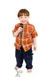 孩子唱歌 库存照片