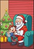 孩子圣诞老人 皇族释放例证