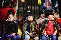 孩子在万圣夜 免版税图库摄影
