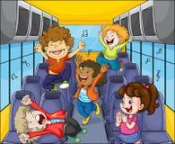孩子在公共汽车上 免版税库存照片