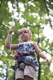 孩子在冒险公园 免版税库存照片