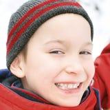 孩子在冬天 免版税图库摄影