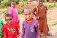 孩子在坦桑尼亚 免版税库存照片