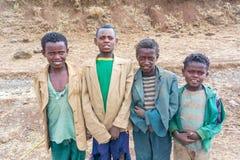 孩子在埃塞俄比亚 库存图片