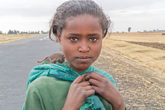 孩子在埃塞俄比亚 库存照片