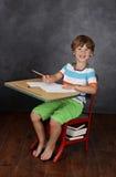 孩子在学校,教育 免版税库存照片