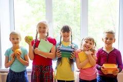 孩子在学校 免版税库存图片
