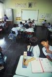 孩子在教室在巴西 图库摄影