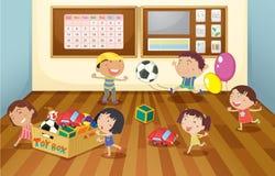孩子在教室 免版税库存照片