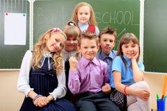 孩子在教室 免版税库存图片