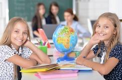 孩子在教训的学校 库存图片