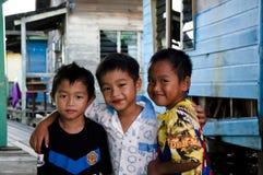 孩子在文莱 免版税库存照片
