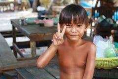孩子在村庄 库存图片