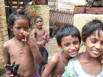 孩子在瓦腊纳西 库存照片