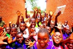 孩子在马拉维,非洲 库存照片