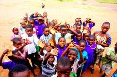 孩子在马拉维,非洲 免版税库存照片