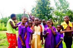 孩子在马拉维,非洲 库存图片