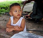 孩子在马来西亚 免版税库存照片
