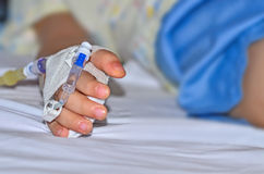 孩子在医院 免版税图库摄影