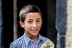 孩子在Lah拉达克 免版税图库摄影