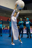 孩子在SpringCup国际舞蹈竞争中竞争 免版税库存照片