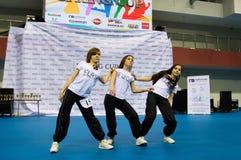孩子在SpringCup国际舞蹈竞争中竞争 库存照片