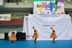 孩子在SpringCup国际舞蹈竞争中竞争 图库摄影