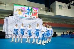孩子在SpringCup国际舞蹈竞争中竞争 免版税图库摄影