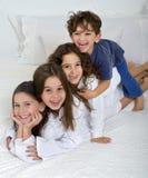 孩子堆 免版税库存图片