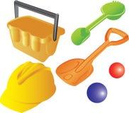 孩子塑料s沙子玩具 免版税图库摄影
