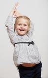 孩子女孩时尚被隔绝的画象 库存图片