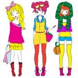 孩子女孩巴黎少年T恤杉设计 免版税库存图片
