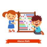 孩子学会算术 免版税图库摄影