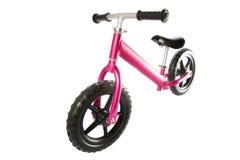 孩子平衡自行车 库存图片