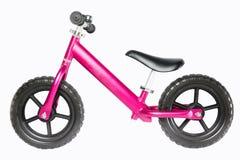 孩子平衡自行车 免版税图库摄影