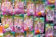 孩子形象的日本人纪念品湿软的玩具 库存图片