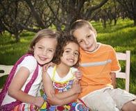 孩子微笑的一点 库存照片