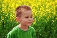 孩子微笑 夏天 图库摄影