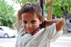 孩子微笑 免版税库存图片