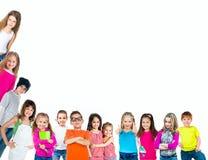 组孩子微笑 免版税库存图片