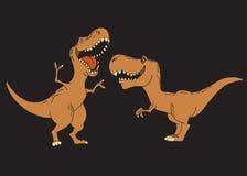 孩子恐龙微笑着 库存例证