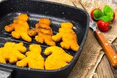 孩子恐龙的鱼矿块 免版税库存图片