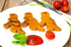 孩子恐龙的鱼矿块 免版税库存照片