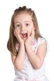 孩子惊奇了 免版税库存图片