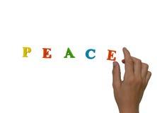孩子想要和平! 免版税库存图片