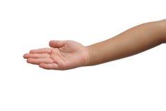 孩子提供你的手 免版税库存图片