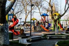 孩子操场在国家土耳其 库存照片