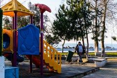 孩子操场在国家土耳其 图库摄影